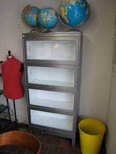 Stripped Metal Barrister Bookcase