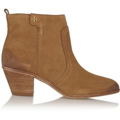 499a8e51fe31 Tory Burch Leena suede ankle boots ( 235) ❤ liked on Polyvore featuring  shoes