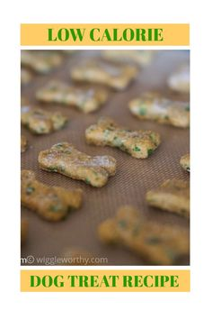 Delicious and nutritious low calorie pumpkin spinach dog treats for dogs who want taste without the waist! This healthy dog treat recipe is easy to make, and your dog will love the results. #homemadedogtreats #dogtreatrecipeslowcalorie #dogtreatrecipeseasy #wiggleworthy