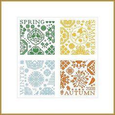 Sampler 4 Seasons - Cross Stitch Pattern