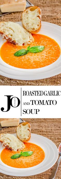 and Tomato Soup – perfect on a cold day or when you're feeling under the weather. Did I mention it's only 110 calories?Garlic and Tomato Soup – perfect on a cold day or when you're feeling under the weather. Did I mention it's only 110 calories? Healthy Recipes, Chili Recipes, Soup Recipes, Vegetarian Recipes, Dinner Recipes, Cooking Recipes, Healthy Soup, Delicious Recipes, Garlic Soup