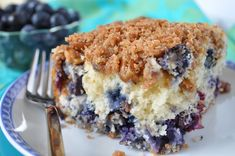 Blueberry Muffin Streusel Cake went VIRAL!!! moistest cake with yummy streusel topping with #blueberries. One of my popular blueberry #recipes  #July4th www,hollyclegg.com