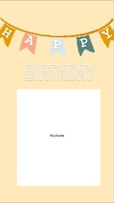 Happy Birthday Wishes Photos, Happy Birthday Frame, Happy Birthday Wallpaper, Happy Birthday Brother, Birthday Posts, Birthday Wishes Quotes, Creative Instagram Photo Ideas, Instagram Story Ideas, Happy Birthday Template
