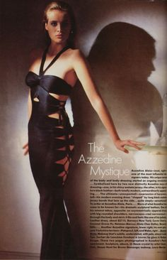 Photo by Arthur Elgort, dress by Azzedine Alaia. Vogue February 1986
