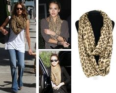 2Colors D Y Mother Day Sale Oversize Leopard Animal Print Infinity ...