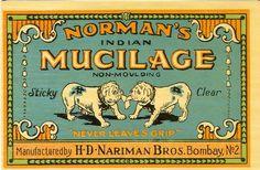 1890's English Bulldog Glue label