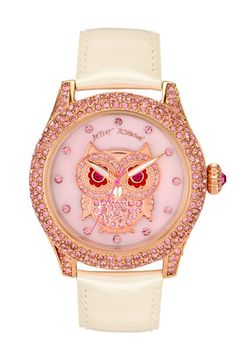 Betsey Johnson 'Bling Bling Time' Owl Dial Watch