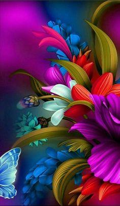 50 New ideas for flower art wallpaper backgrounds Beautiful Flowers Wallpapers, Beautiful Nature Wallpaper, Colorful Wallpaper, Purple Wallpaper, Best Flower Wallpaper, Flower Backgrounds, Wallpaper Backgrounds, Iphone Wallpapers, Animal Wallpaper