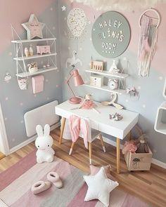 Trendy Ideas Baby Bedroom Design For Kids Baby Bedroom, Baby Room Decor, Nursery Room, Bedroom Decor, Bedroom Girls, Trendy Bedroom, Bedroom Colors, Girls Room Desk, Kids Bedroom Ideas For Girls