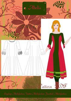 Patron vestido Lady Marian talla 38-42 personalizado de AbelisFashion en Etsy