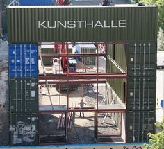 Shipping Container Homes: Platoon, Kunsthalle - Berlin, Germany - 40 Shipping Container Cargotecture Building