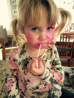 """'Kid-safe' makeup that took a week to fade away. Enough said..."""