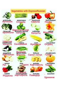 Learn how to name vegetables in Russian