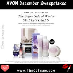 This Month sweepstakes Avon is sponsoring a sweepstakes named The Softer Side of Pamper your skin by keeping it soft all season long while snuggling up to warm, intoxicating s… Avon Skin So Soft, Shops, Avon Online, Avon Rep, Coupon Codes, Body Care, Bath And Body, Winter, Health And Beauty
