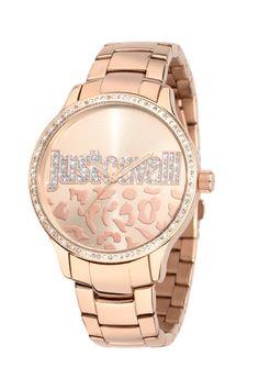 Just Cavalli Huge Ladies Rose Gold Bracelet Watch Rose - 7253127507 fe69737bb09