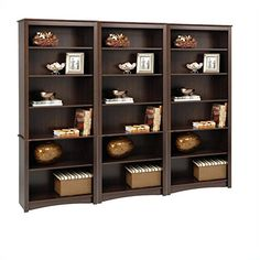 Lowest price online on all Prepac 3 Pieces 6 Shelf Bookcase Set in Espresso Finish - Discount Office Furniture, Home Office Furniture Design, Home Office Furniture Sets, Business Furniture, Furniture For Small Spaces, New Furniture, Barrister Bookcase, Bookcases, Office Furniture Manufacturers