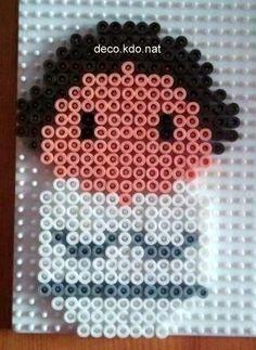 Princess Leia Star Wars hama perler beads by Deco.Kdo.Nat