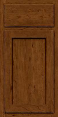 KraftMaid Cabinets -Arch Recessed Panel - Veneer (GCR) Cherry in Ginger w/Sable Glaze from waybuild