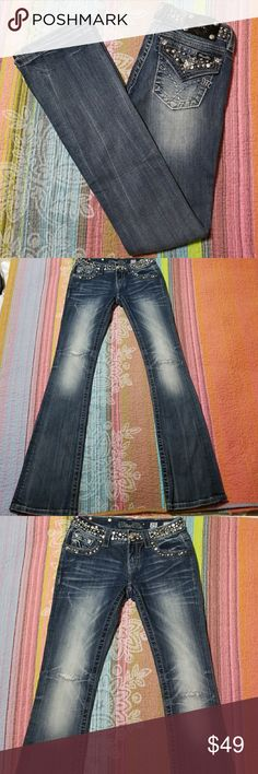 Miss Me signature Bootcut jeans Only worn few times Miss Me Jeans Boot Cut