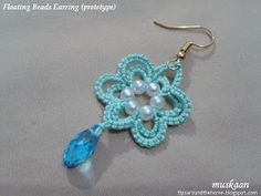 how to add a floating bead in tatting - an introduction.