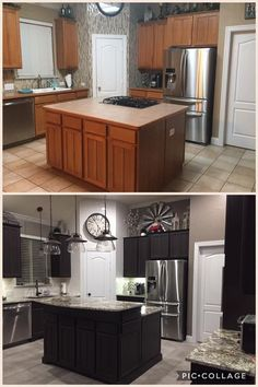 Ideas for kitchen renovation: simple and inexpensive DIY cupboard solutions with a … – Gray Espresso Kitchen Cabinets Kitchen Design, Kitchen Renovation, Diy Kitchen Cabinets, Home Decor Kitchen, Cheap Kitchen Cabinets, Kitchen Cabinets Decor, Kitchen Style, Diy Cupboards, Kitchen Cabinets