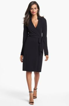 Wardrobe staple: Classic DVF wrap dress.