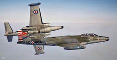 Very nice view air / air of two Avro Canada Canuck from 423 Squadron based at Grostenquin for all weather interception. Military Jets, Military Aircraft, Canadian Army, Aviation Image, Air Photo, Air Festival, Air Force, Fighter Jets, Photos
