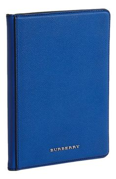 Burberry iPad Mini case in sapphire, spotted at 40% off. Gorgeous gift.
