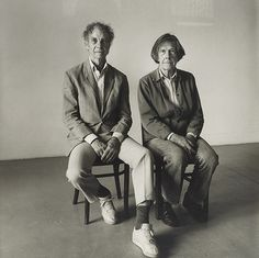 Merce Cunningham and John Cage Seated (II), 1986]