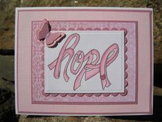 HOPE breast cancer ribbon card by catcrazy - Cards and Paper Crafts at Splitcoaststampers