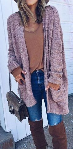 af19305365 Comfy Dusty Pink Open Front Oversized Cardigan. Oversized Cardigan  OutfitWinter Cardigan OutfitCardigan SweatersWhite CardiganLong ...