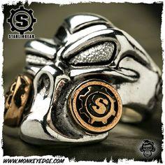 "STARLINGEAR ~ Ring New ""Gasser"" Puncher /Silver/Brass"