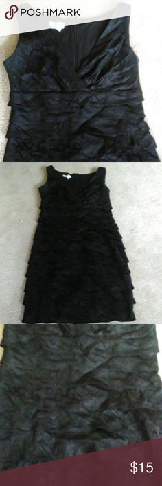 London times lbd In great condition only worn 3 times. Flattering on any figure. Perfect little black dress with a little flair London Times Dresses Mini