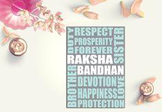Modern Rakhi Card  Raksha Bandhan Card  by Firstblushdesignco
