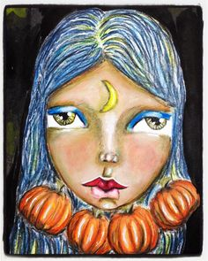 Getting in the autumn mood. #halloween #mixedmedia #artjournal #dylusions #whimsical #irisimpressionsart