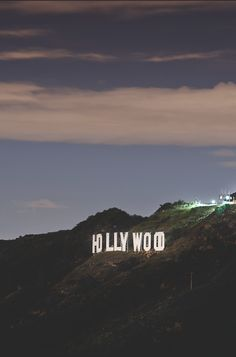 Hollywood sign at dusk