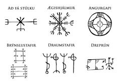 Icelandic Magical Staves (source: http://sacred-chaotic-geometry.tumblr.com/post/104188284604/icelandic-magical-staves-are-symbols-credited-with)