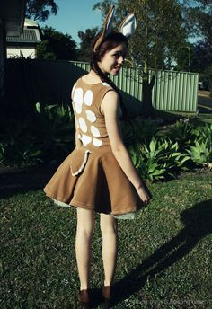 Bambi deer Costume for dress up party #diy #sew