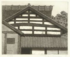 TANAKA Ryōhei(田中良平 Japanese, b.1933) House of Ohara 1983 etching