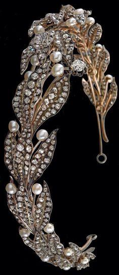 Diamond&pearl headband