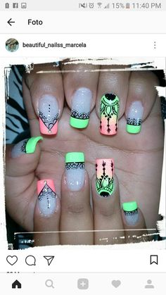 Exotic Nails, Fall Acrylic Nails, French Tip Nails, Gorgeous Nails, Cool Nail Art, Stiletto Nails, Triangles, Hair And Nails, Nail Designs