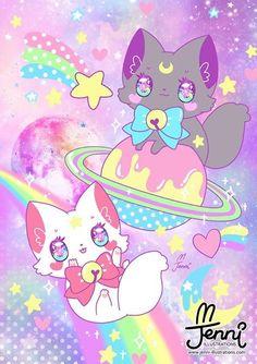 Chibi Kawaii, Kawaii Doodles, Kawaii Cat, Kawaii Anime, Cute Kawaii Animals, Cute Animal Drawings Kawaii, Cute Pokemon Wallpaper, Kawaii Wallpaper, Image Pastel