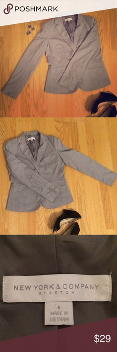 New York & Co grey blazer New York & Co grey blazer. Fantastic condition! Also have the skirt to complete the skirt suit. New York & Company Jackets & Coats Blazers