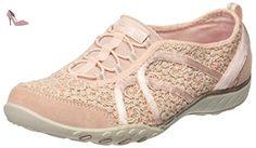 Breathe-Easy-Sweet Darling, Sneakers Basses Femme, Rose (Pksl), 36 EUSkechers