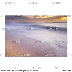 Shop Beach Sunrise Tissue Paper created by JFJPhoto. Beach Sunrise, Custom Tissue Paper, Small Gifts, Just Go, My Images, Artwork, Prints, Outdoor, Outdoors