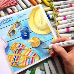 С первыми днями лета ! В Питере после весны, наступила осень! Но надеемся на скорейшее потепление  А для согрева и воодушевления, мой яркий и солнечный #скетч ☀️ к моему мастер классу в Краснодаре и Анапе! Подробности в ссылке и предыдущих постах! #artshelmenko #sketchzone #copic #copicmarkers #sketch #art #drawing #copicmarker #sketching #sketchbook #illustration #summer #illustrator #artwork #arts_help #artschool #школарисования #мастеркласс #mk_ira #masterclass #creative #arts #ar...