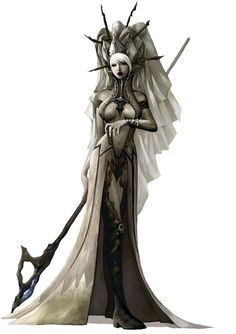 Dark Elf Female & Staff