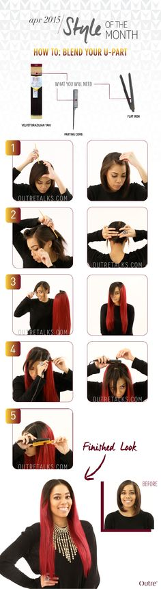 BLEND YOUR NATURAL HAIR WITH A U-PART WIG