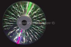 Drops of water on the disk