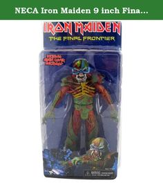 NECA Iron Maiden 9 inch Final Frontier Action Figure. Eddie, Maiden's legendary mascot, has always adorned the album covers of Iron Maiden. This version is based on the artwork from their #1 selling 15th studio album, The Final Frontier. The figure stands nearly 22 cm tall and features over 25 points of articulation.
